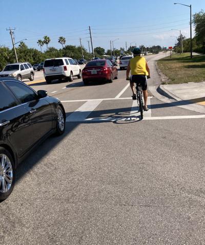 Narrow bike lane