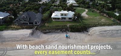 Beach easements for sand renouishment
