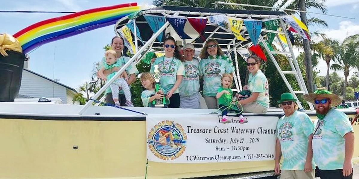 Treasure Coast Waterway Cleanup parade float