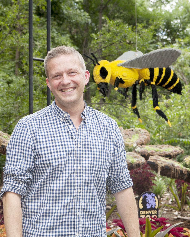 Legos bumblebee sculpture