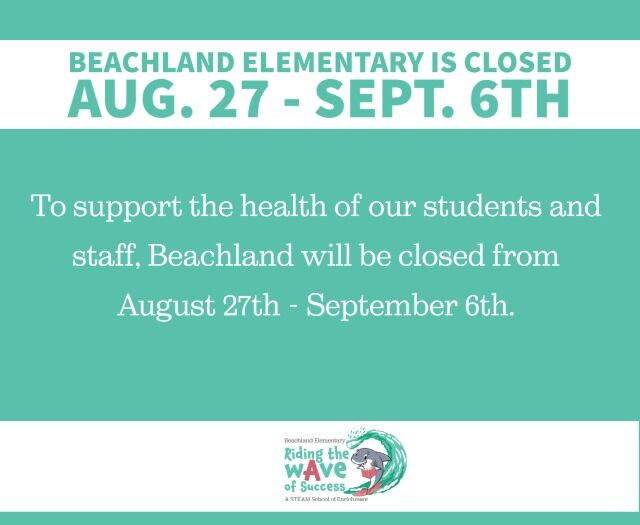 Beachland Elementary closed notice