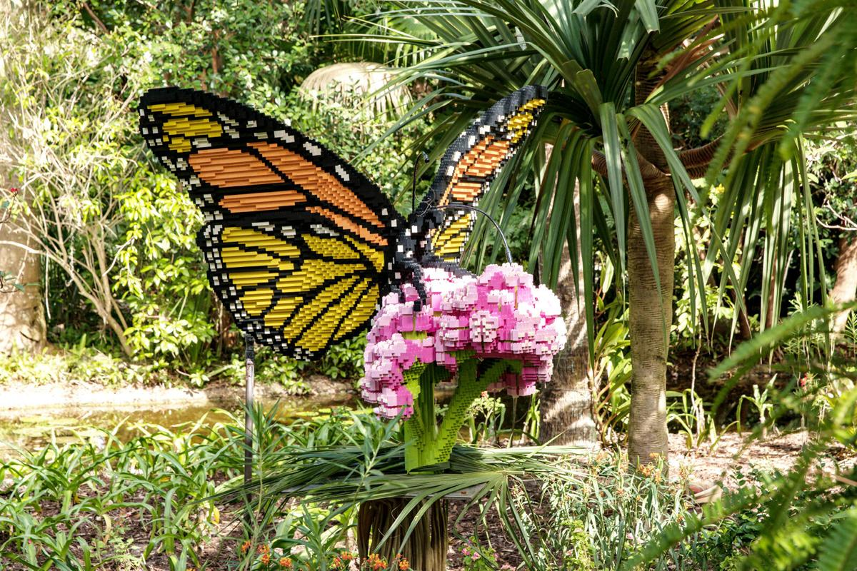 Legos monarch butterfly sculpture