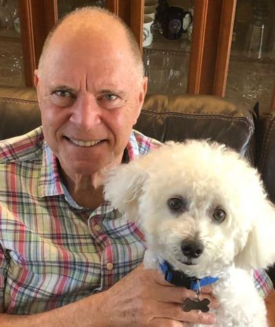 Bill Posey with dog