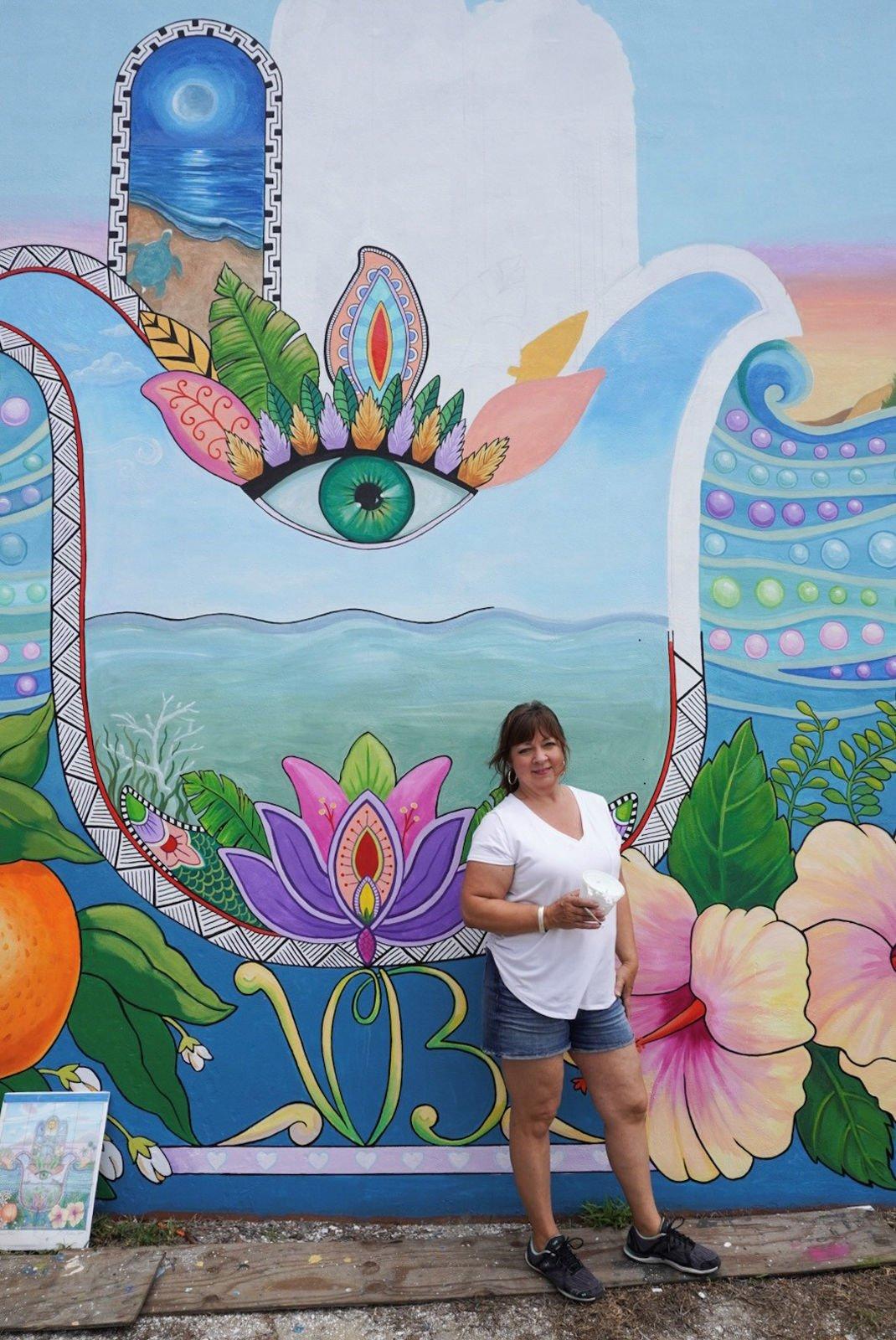 Carol Makris mural