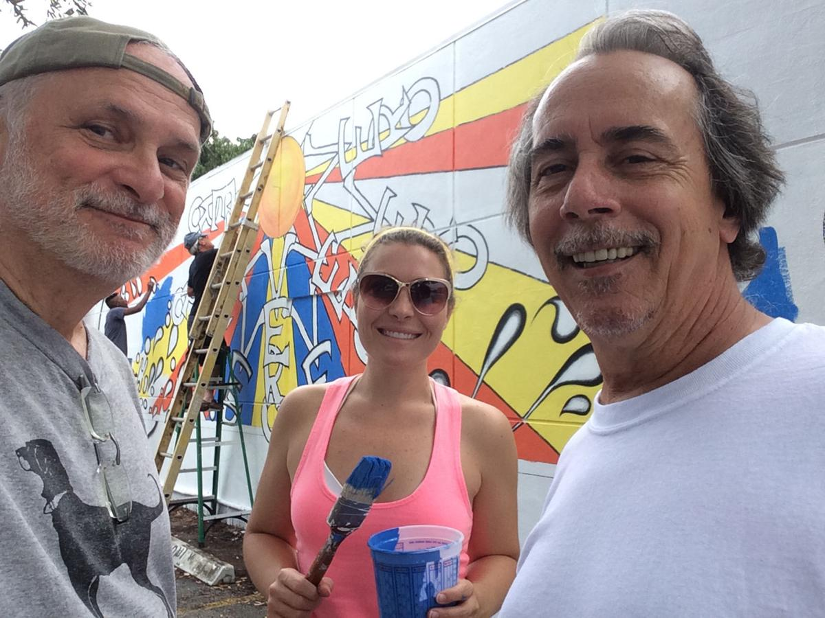 Mr. Smokes mural, Barry Shapiro, Kristin Meeks, Mike Williams