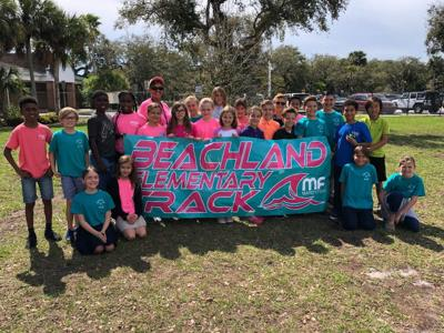 Beachland Elementary Track Team sponsored by Mardy Fish Children's Foundation