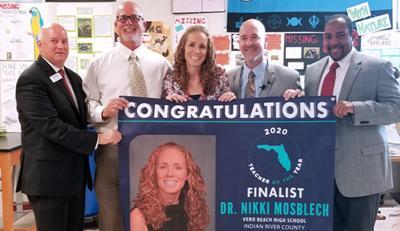 Teacher of the Year Dr. Nicole Mosblech