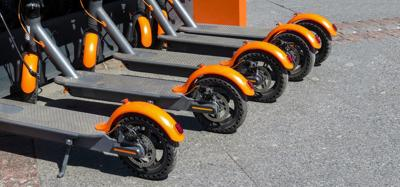 Electric scooters.