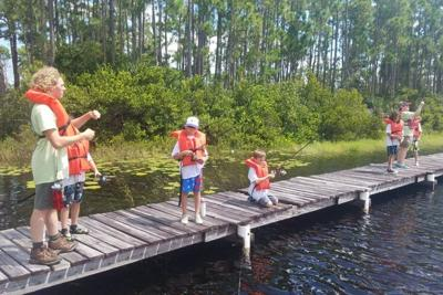 fishing - camp - kids on dock