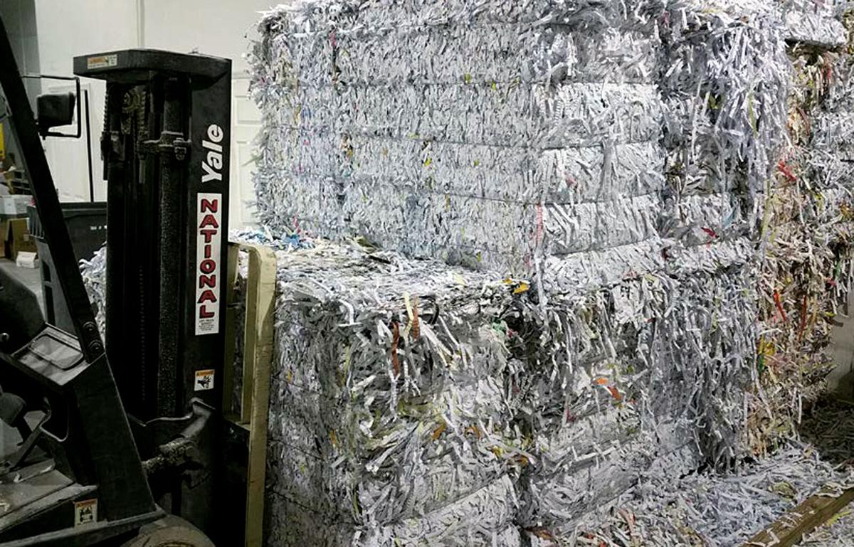 shredded paper at Southeast Secure Shredding in Vero Beach
