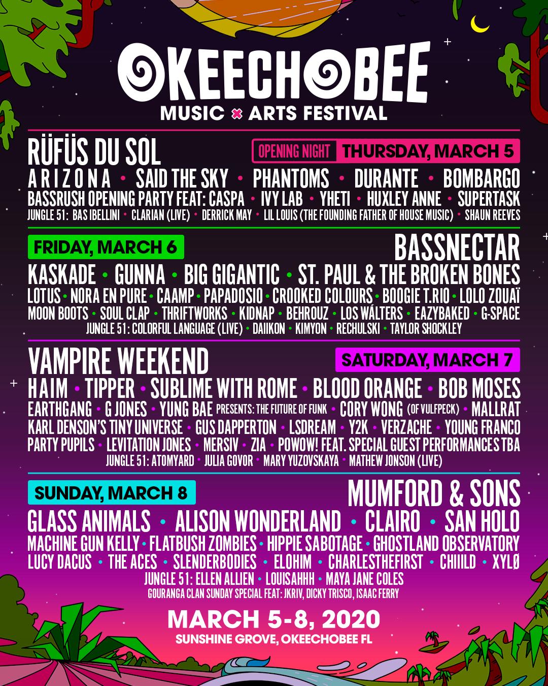 Okeechobee Music and Arts Festival 2020 lineup