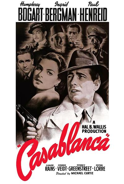 Casablanca movie flyer