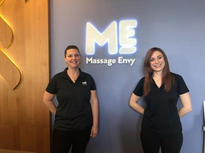 Front Desk Associates Karla Thompson And Katrina Steier At The Palm City Massage Envy Location