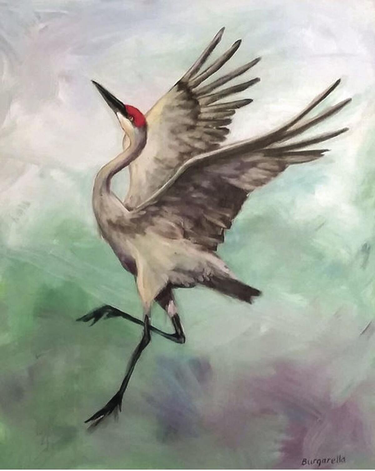 Judy Burgarella - Mating Dance of the Sandhill Crane