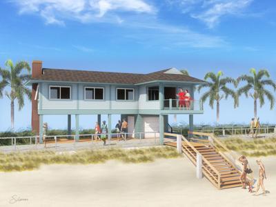Vero Beach Lifeguard Association proposed new lifeguard tower