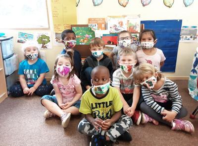 Head Start children wearing masks