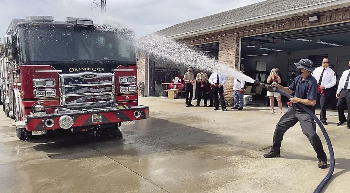Orange City celebrates new fire truck with ceremony