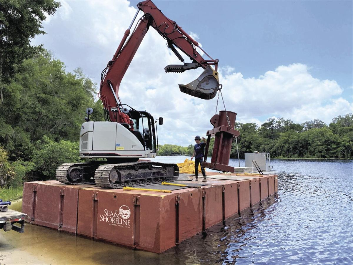 Blue Spring embankment getting extra care in Orange City