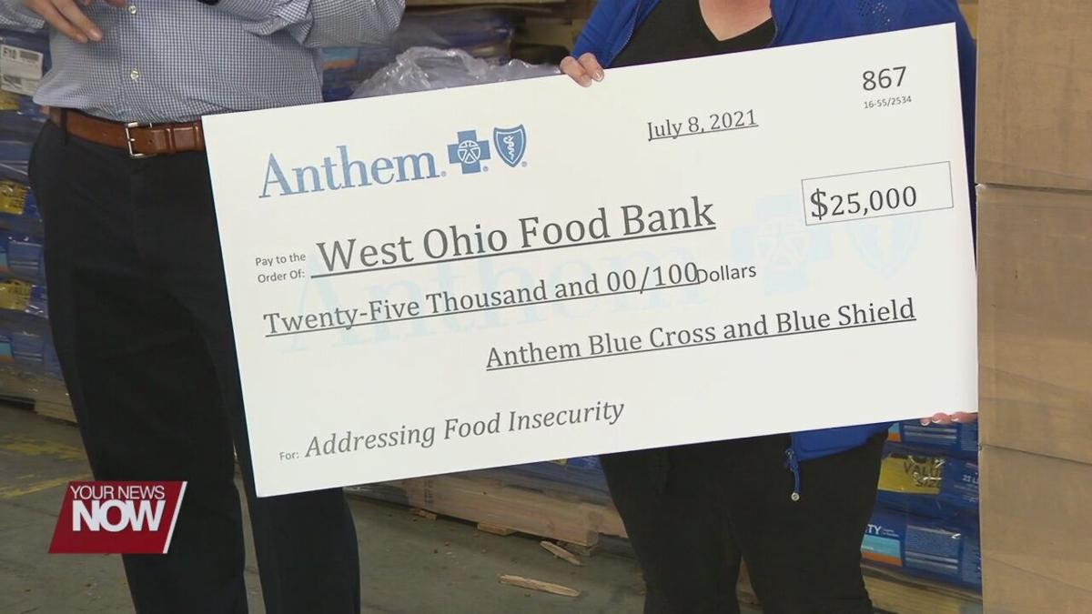 Donation to West Ohio Food Bank to help fight against food insecurity