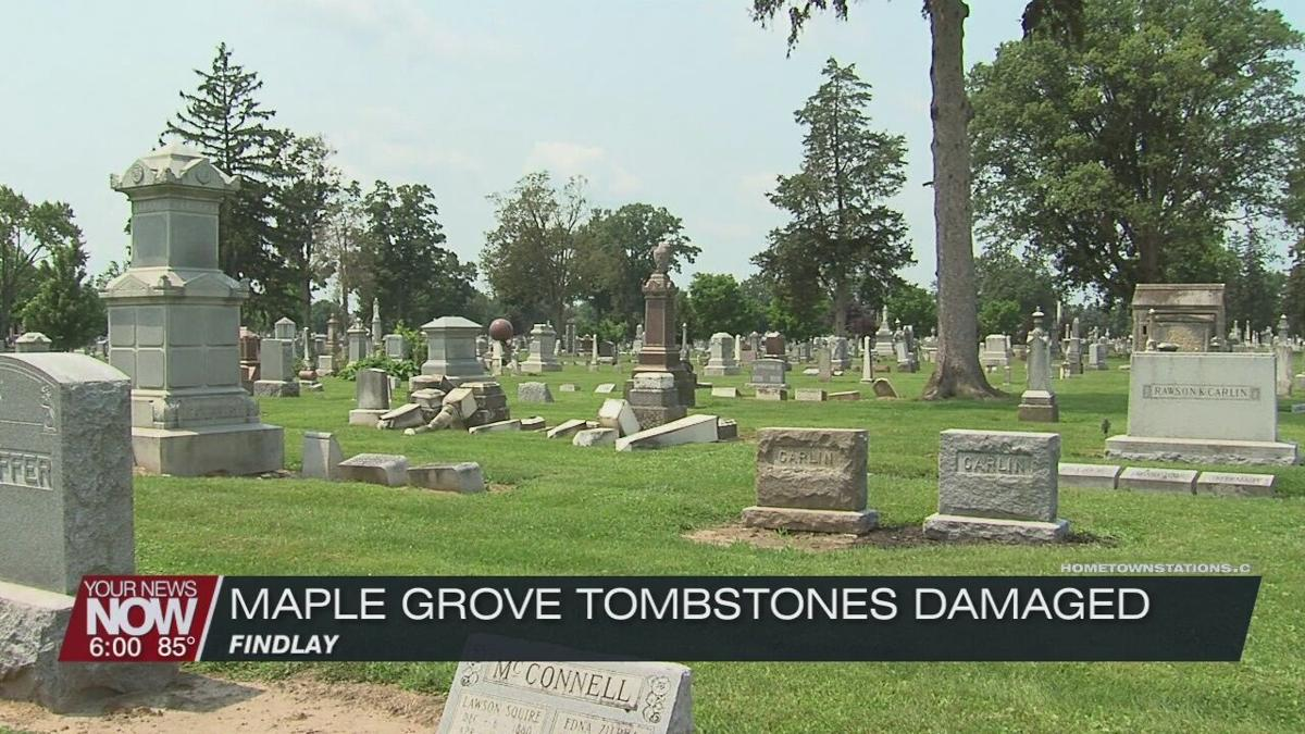 Police investigating vandalism incident at a Findlay cemetery