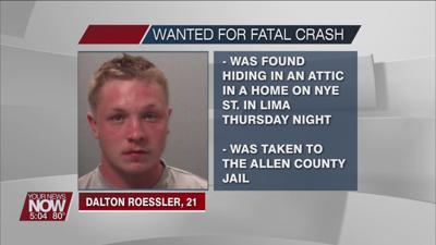 Man wanted for a Monday fatal crash, found hiding in attic of a Lima home