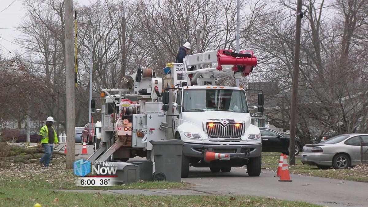 Crews working to repair wind damage