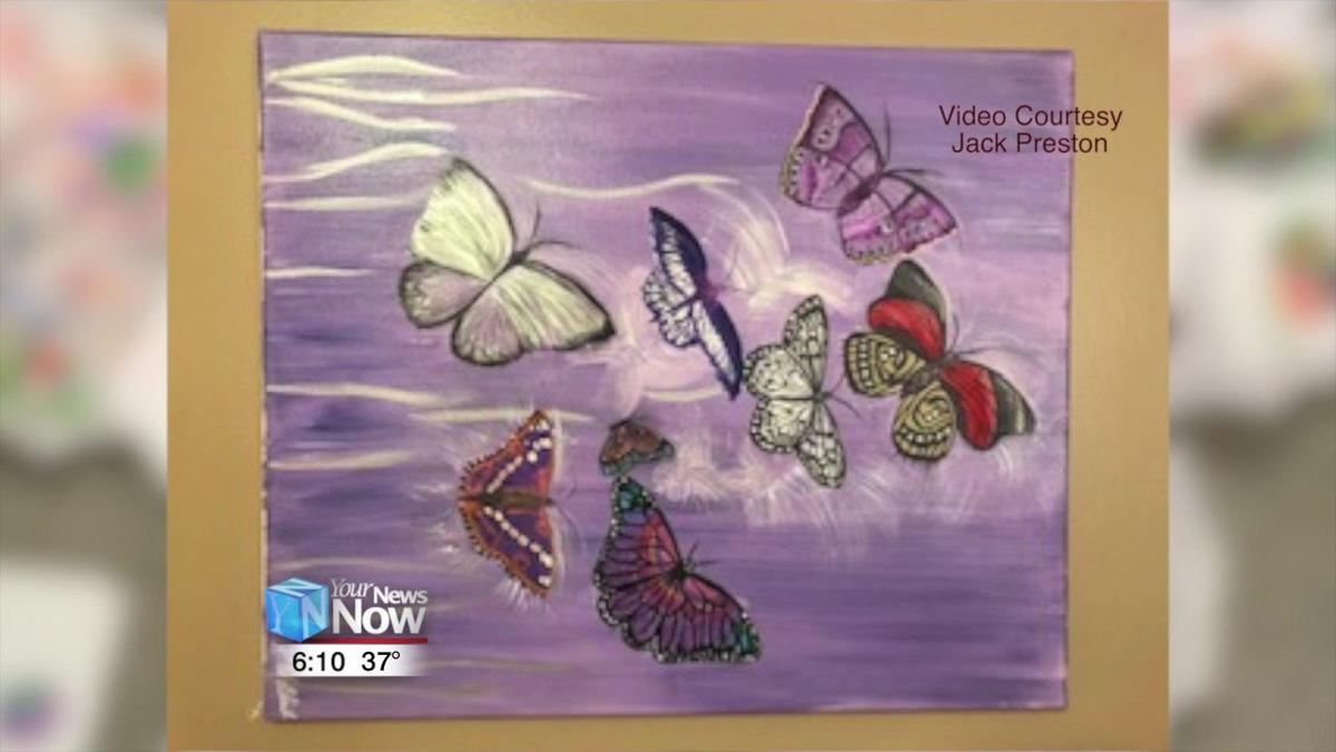 Area students painting butterflies for a good cause 2.jpg