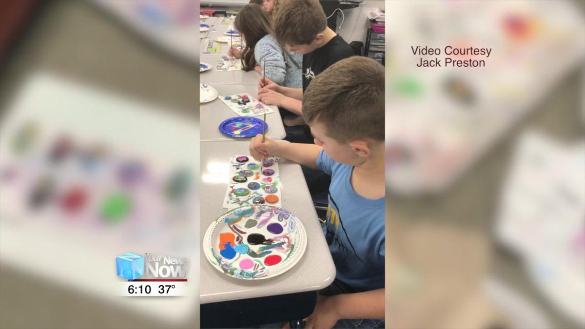 Area students painting butterflies for a good cause 1.jpg