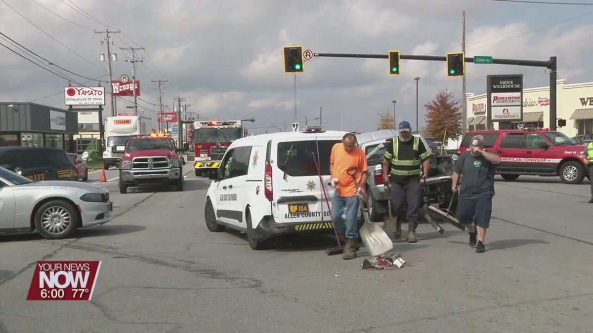 One arrested after a multi-vehicle accident at Cable and Elida intersection