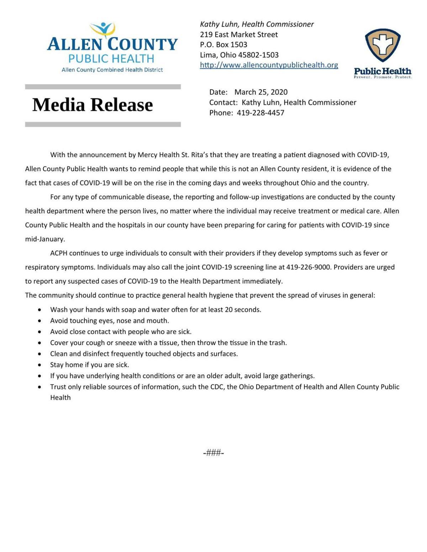 COVID-19 Press Release - 3-25-20 COVID-19 in  Area.pdf