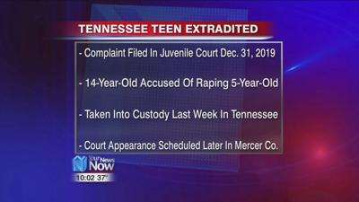 Teenager extradited from Tennessee for the suspected rape of a 5-year-old