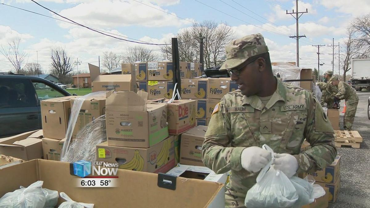National Guard helps out with West Ohio Food Bank's largest distribution in Hardin County