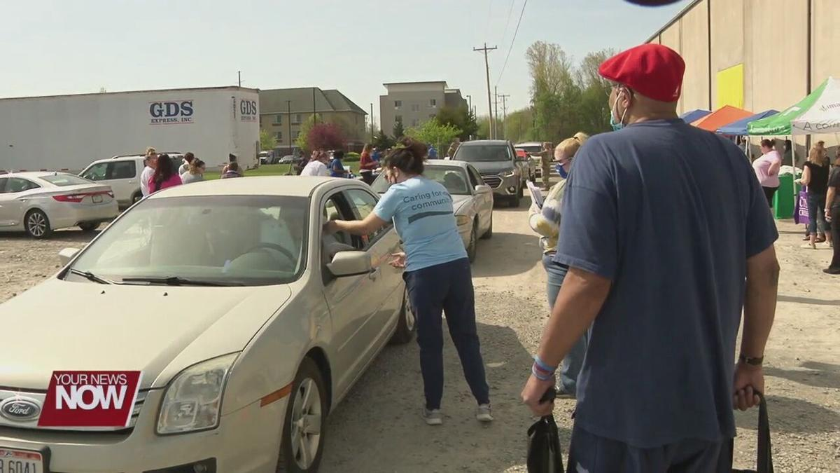 West Ohio Food Bank holds resource fair and food distribution Tuesday morning