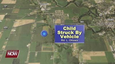 Child hospitalized after being run over by a car