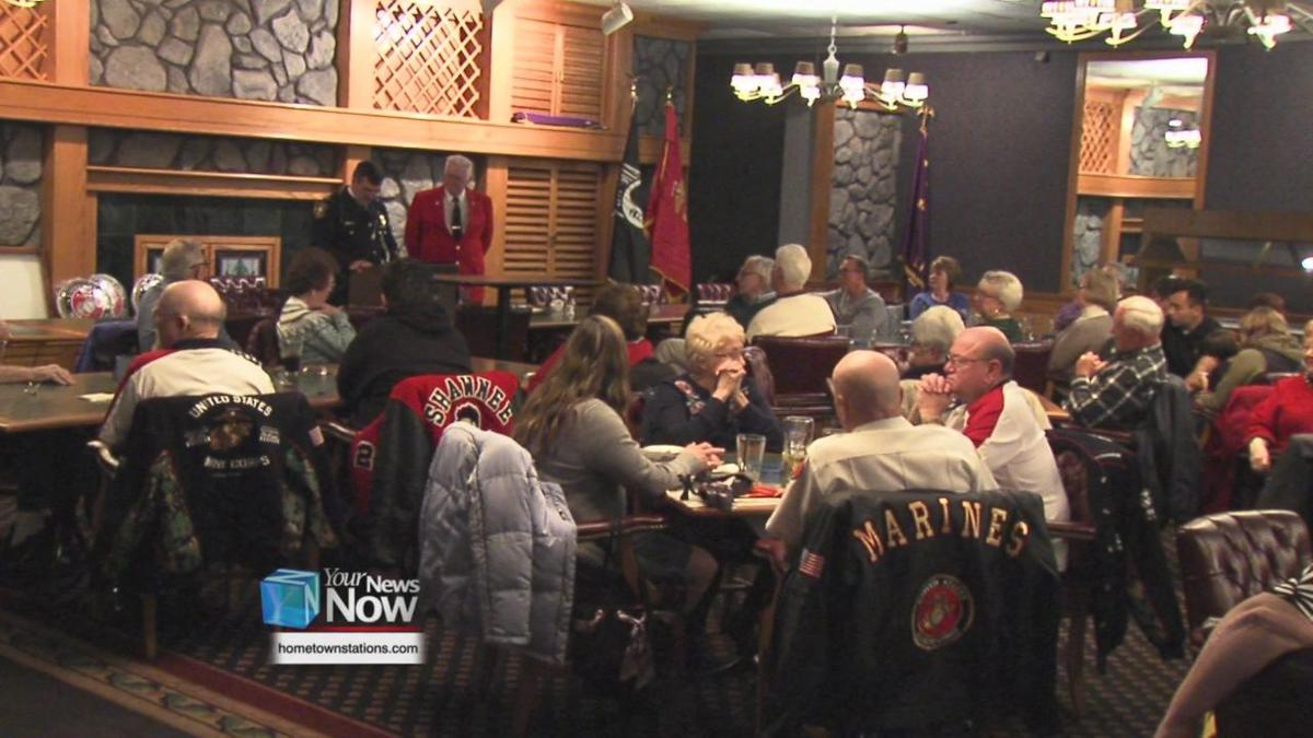 Local Marines gather to celebrate the Corp 244th birthday