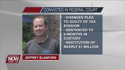 Jeffrey Blanford changes plea to tax evasion and is sentenced