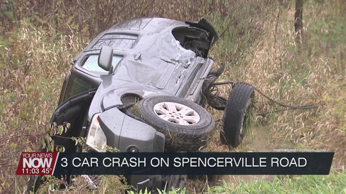 Three car crash at intersection of Defiance Trail and Spencerville Road