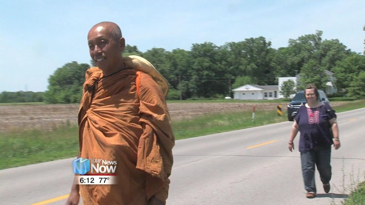 Buddhist monk walks across U.S. for peace.jpg