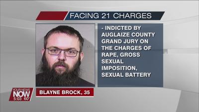 Auglaize County man indicted on 21 charges involving sexual contact with a minor