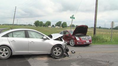 Woman transported to hospital after two car crash1.jpg