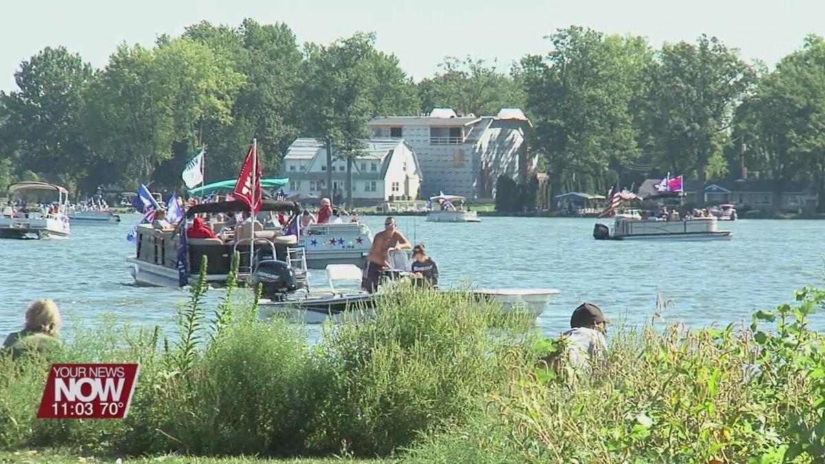 Trump Boat Parade brings hundreds to Indian Lake