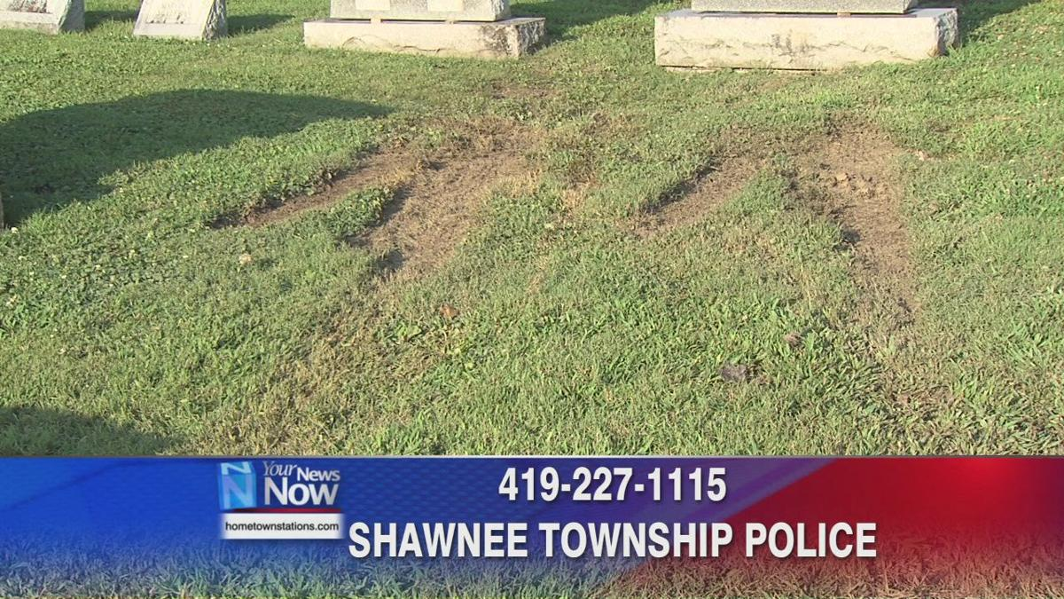 Hit-skip accident damages fence and gravestones at Gethsemani Cemetery 2.jpg