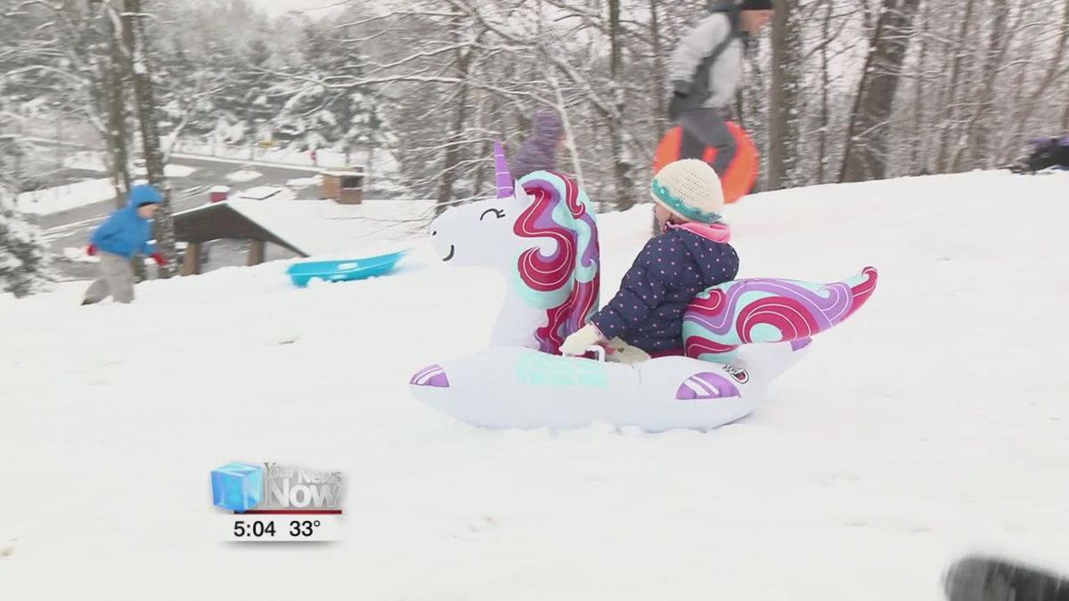 Snowday fun at Faurot Park