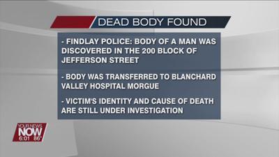 Findlay police investigating dead body found