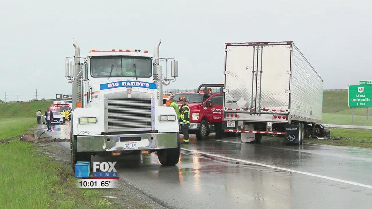 Allen County EMA and Hazmat team called out after two semis jackknife on I-75