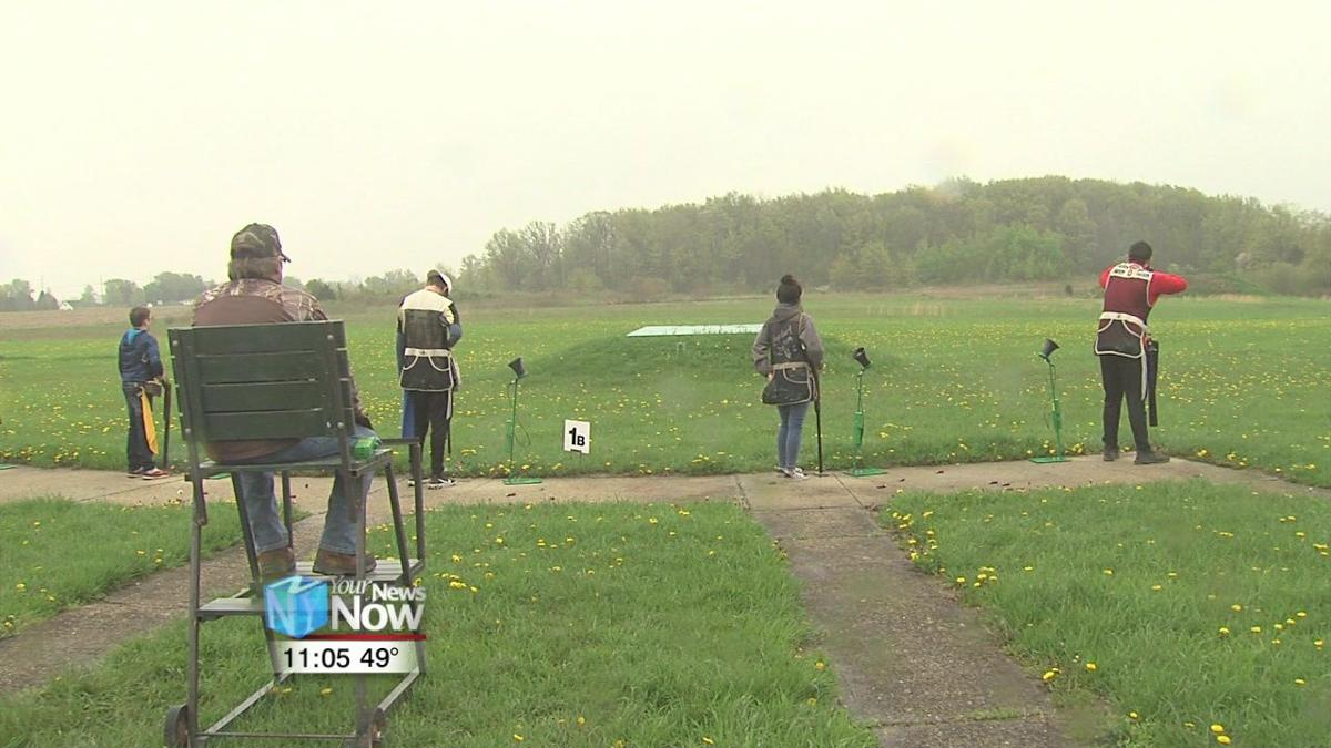 Young people compete in trap shooting at Moulton Gun Club1.jpg