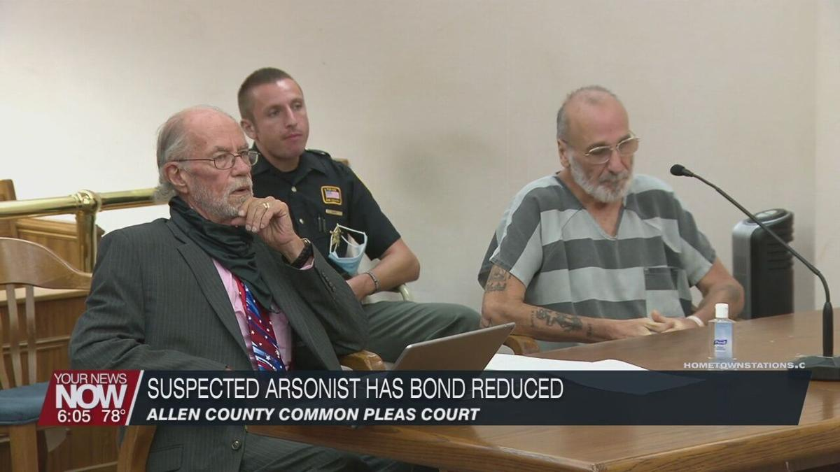 Suspected arsonist sees bond reduced