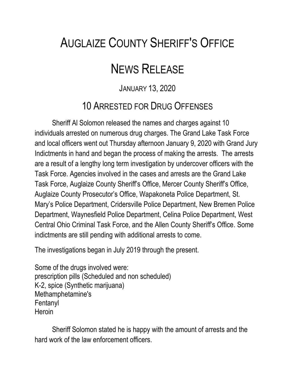 10 Arrested for Drug Offenses  01-13-2020.pdf