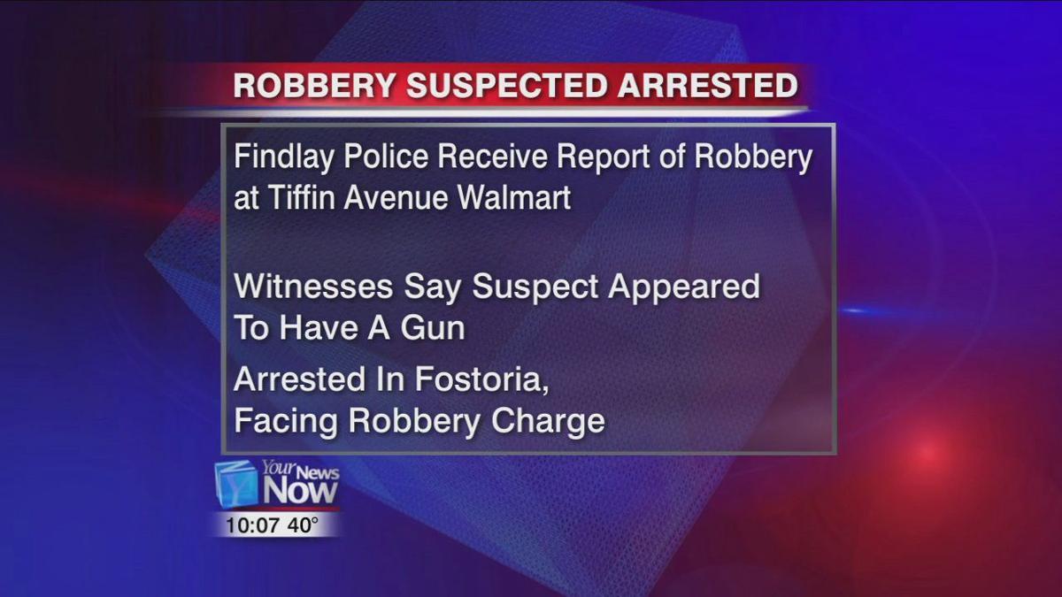 Man suspected of robbing a Findlay Walmart in custody