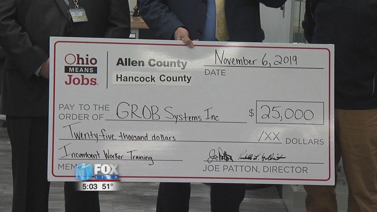 OhioMeansJobs gives training grant to GROB Systems